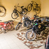 Old bicycles and motorbikes, Musée Da Silva, Porto Novo, Benin