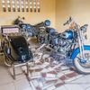 Old Harley-Davidson motorbicycle with sidecar, Musée Da Silva, Porto Novo, Benin