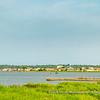 View on Guézin, a fishing village at the Southern tip of Lac Ahémé, Benin