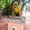 Leopard sculpture guarding the Forêt Sacrée de Kpassè (Kpasse's Sacred Forest), Ouidah, Togo