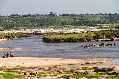 Rapids on the Congo river at South end of Brazzaville, Department of Brazzaville, Republic of Congo