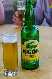 Crocodile beer, the local made beer and it was very refreshing in the humid and hot climate of Brazzaville, Republic of Congo