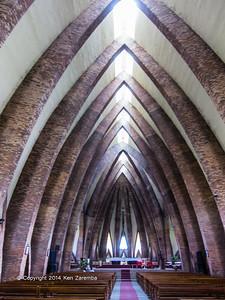 Interior view of the Basilique Sainte Anne du Congo ( Catholic church) In Brazzaville, Department of Brazzaville, Republic of Congo
