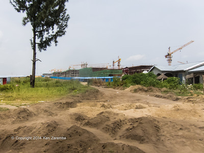 Under construction, the Denis Sassou Nguesso university complex in the Brazzaville suburb of Kintele. Being built by UNICON Congo to accomodate 30,000 students, Department of Brazzaville, Republic of Congo