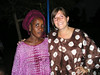 Virginia and one of her friends in Mbagne.