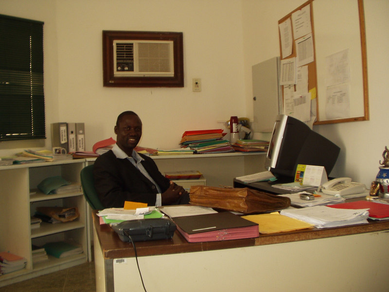 Cheikh Gueye, our awesome VSO in his office in Nouakchott