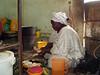 Bintu cooking.