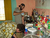 Jared and Michael in the Kiffa kitchen, said to be one of the best-stocked kitchens in Mauritania.  Check out that row of spices.