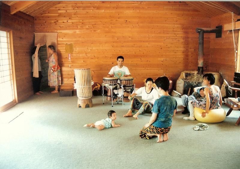 Sunagawa-san, Yanagida-san, Nayuta-chan - Workshop at Hotaka Yojo-en, 1994