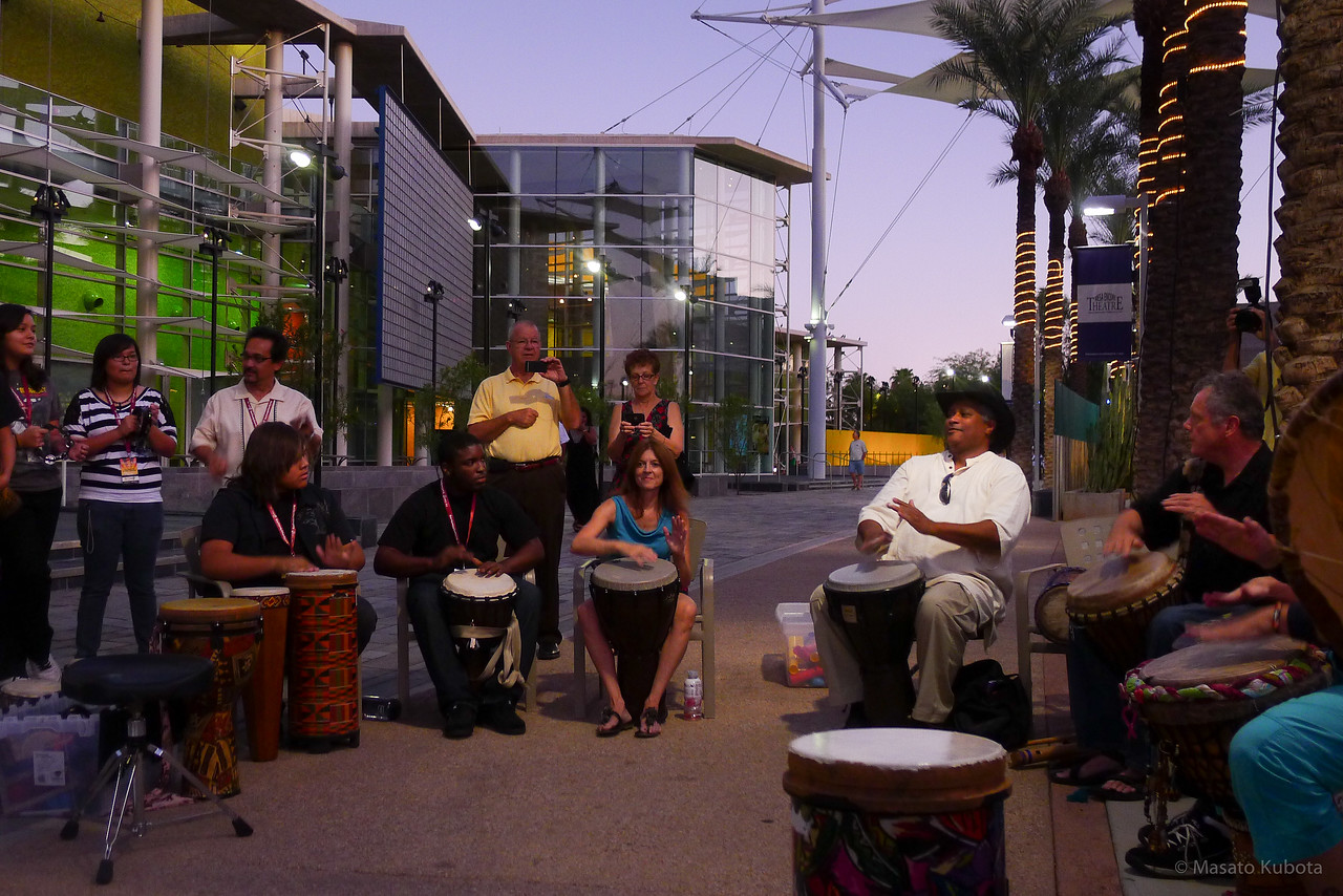 Drum Circle before RTF Concert - Mesa, September 2011