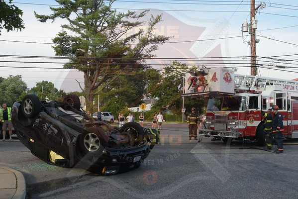 West Babylon F.D.  MVA w/ Overturn  7th St. and Little East Neck Rd.  7/19/15