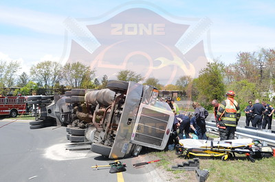 West Babylon F.D. MVA w/ Overturned Tractor Trailer Sunrise Hwy. and Route 109 5/7/13