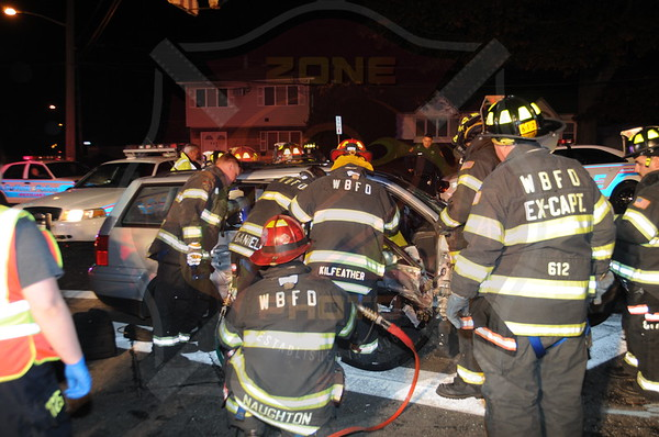 West Babylon F.D. MVA w/ Entrapment S. Railroad Ave. and Great East Neck Road 10/31/13