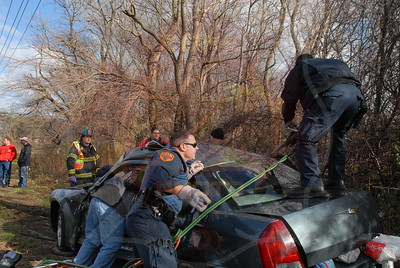 West Babylon F.D. MVA w/ Entrapment Straight Path and Southern State Parkway 12/4/10