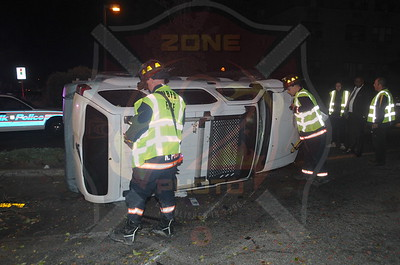 West Babylon F.D. MVA w/ Overturn 134 Great East Neck Rd. 10/29/14