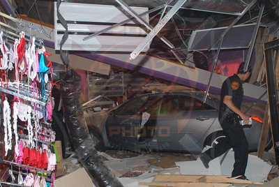 West Babylon F.D. MVA w/ Car Into Building 588 Sunrise Hwy. 7/13/10