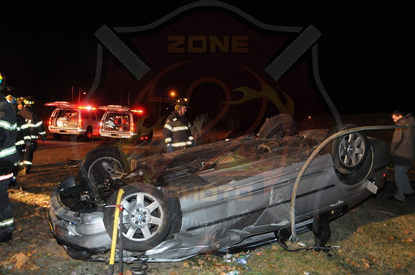 West Babylon F.D. MVA w/ Overturn on Bergen Ave. 11/14/13