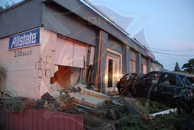 West Babylon F.D. MV w/ Car Into Building 236 E. Sunrise Hwy. 7/20/10