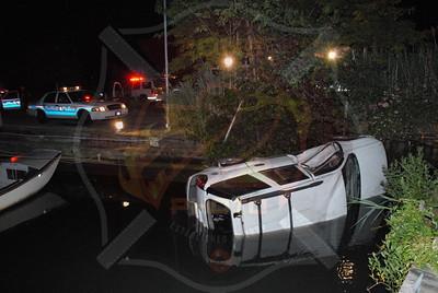 West Babylon F.D. MVA w/ Car Into Water 295 Bergen Ave. 6/25/10