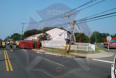 West Babylon F.D. MVA w/ Overturn Straight Path and Matthews Ave. 8/17/09
