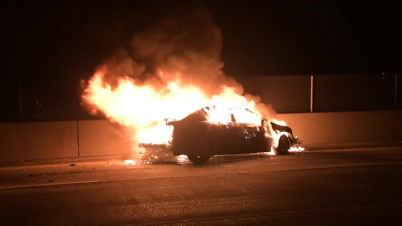 West Babylon Accident with Car Fire- Paul Mazza