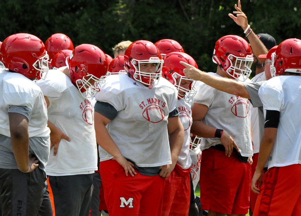 . Orchard Lake St. Mary\'s is the three-time defending state champion in Division 3. The Eaglets were 10-4 in  2016. (Photos by Dan Fenner/The Oakland Press)