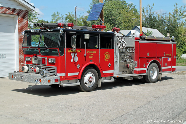 Engine 76 - 1970 Ward LaFrance Ambassador (80-291)/1989 E-One – 2000gpm/500gal/50 foam