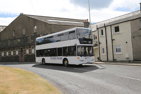 10909 westbound through Walkerburn for Peebles