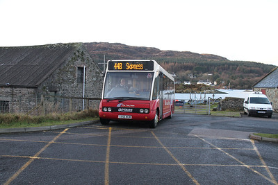 S555WCM ready to form the 448 for Skipness at Tarbert slipway