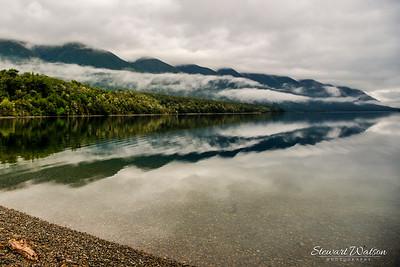 Lake Rotoiti, cloud reflections