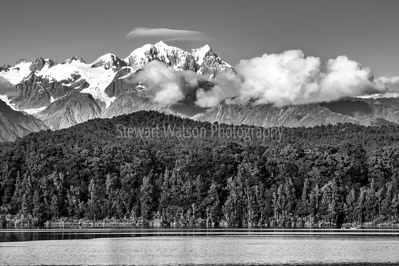 Southern Alps in monochrome