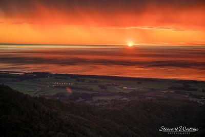Denniston Coal mind sunset lighter