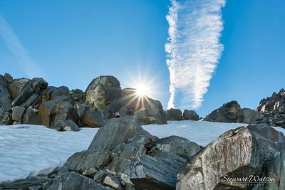 Franz Josef Glacier sitting on a rock