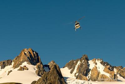 Helicopter above Franz Josef Glacier