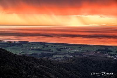 Denniston Coal mind sunset skies