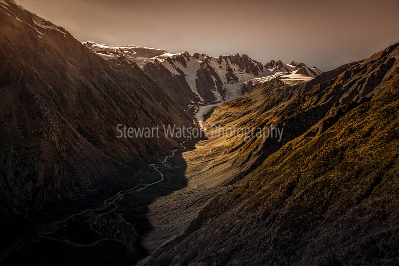 Moody Southern Alps valley