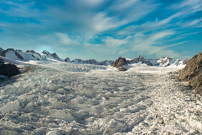 The majesty of the Southern alps glacier
