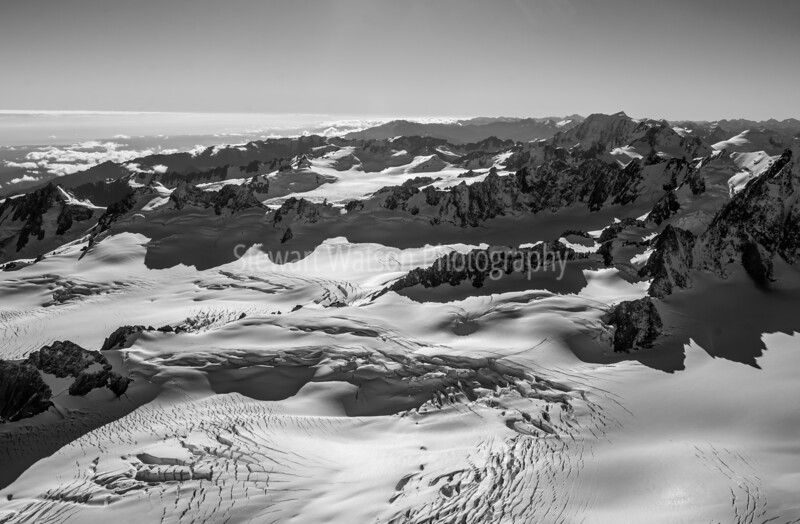 Southern Alps in Black and White