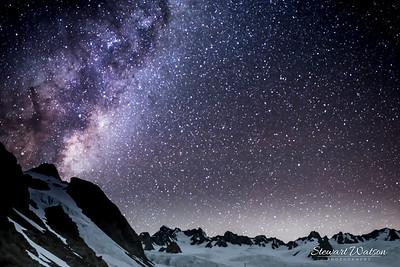 Starry night at Almer Hut