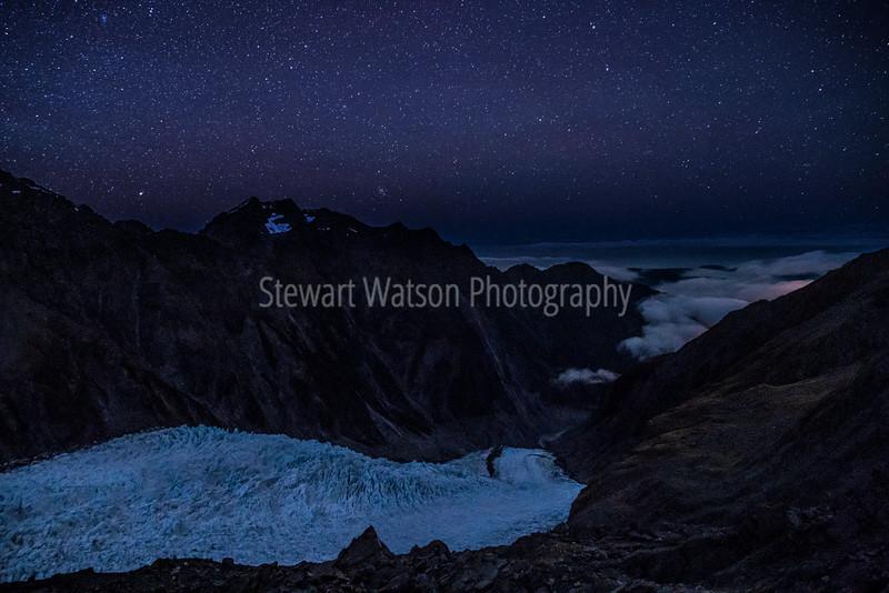 The Glacier under the stars