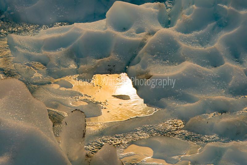 Sunlight on the glacier floor
