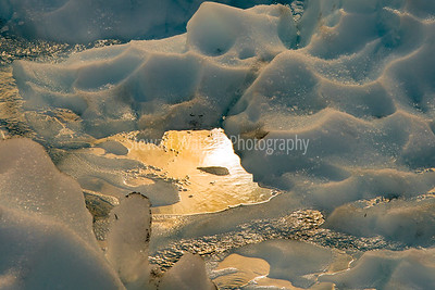 Sunlight on the glacier floor