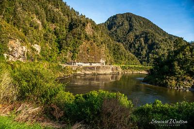 Lower Buller gorge between Westport and Inangahua Junction