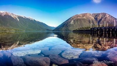 Lake Rotoiti Nelson stones under the water