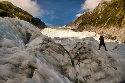 Following our hiking guide up the stunning Fox Glacier in New Zealands Southern Alps