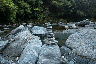 Thunder Creek rock stack, Haast