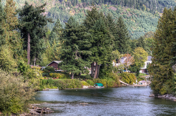 The Cowichan River - A Serene River Scene - Cowichan Valley, Vancouver Island, BC, Canada