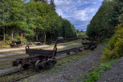 Train - Outside Telegraph Cove, Vancouver Island, British Columbia, Canada