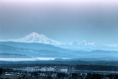 Mount Baker - shot from Vancouver Island, BC, Canada