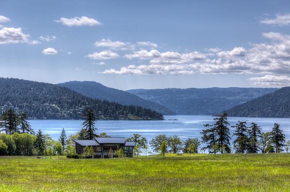 Vancouver Island Landscape - Saanich Peninsula, Vancouver Island, BC, Canada